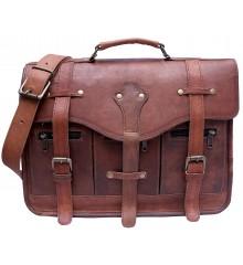 """MARAKESH™ Skórzana aktówka, teczka, torba na ramię. Skóra naturalna. 15"""""""