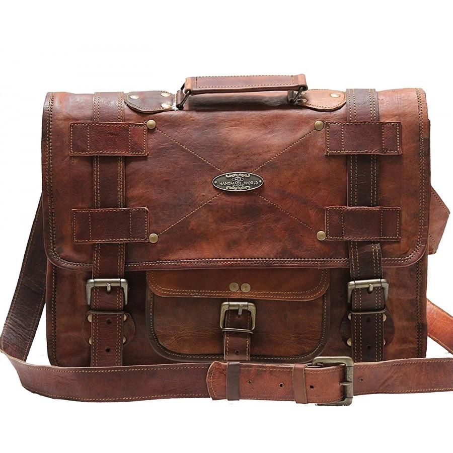 1ed33101fcba4 RAZUSTRA™ Skórzana aktówka, teczka, torba na ramię. Skóra naturalna. 15