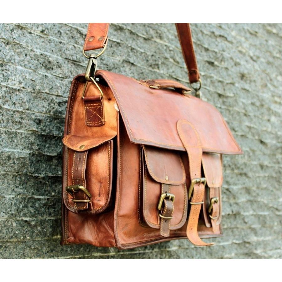 """DAILY II™ Skórzana aktówka, teczka, torba na ramię. Skóra naturalna. 15"""""""
