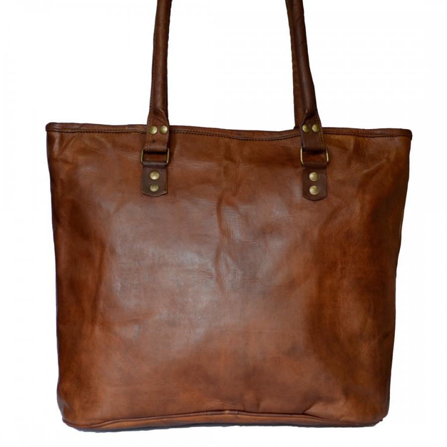 """Skórzana torebka damska na ramię. Rozmiar 16"""" ★Kolekcja Vintage"""