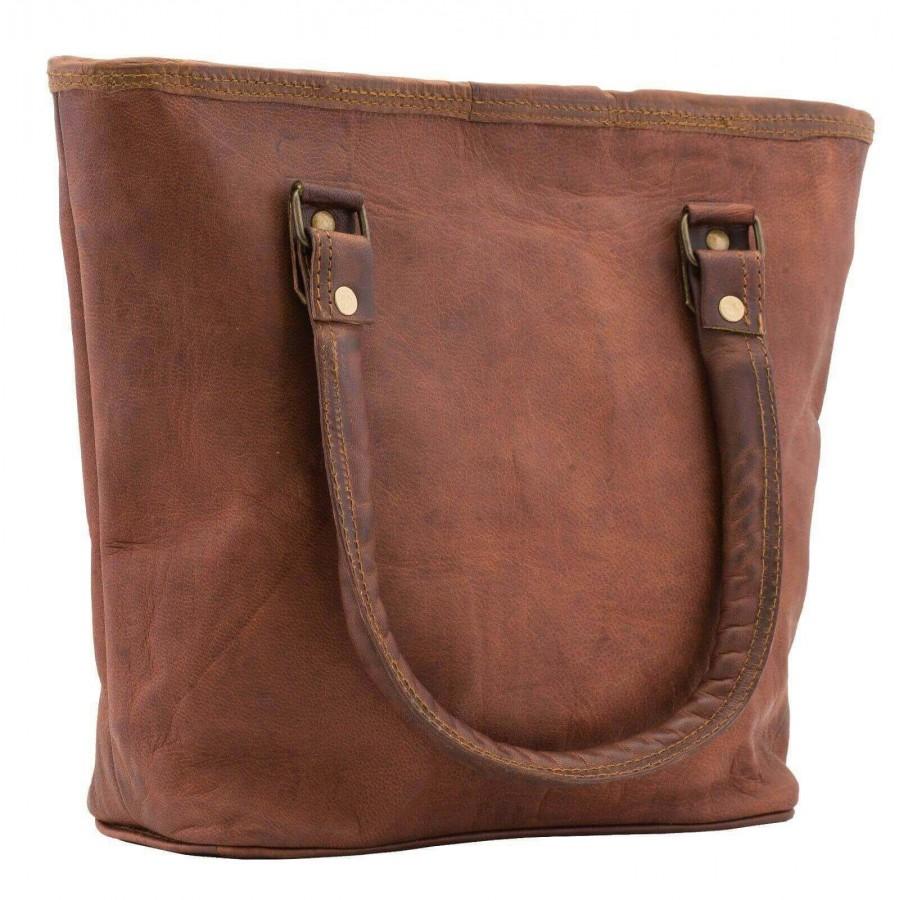 """Skórzana torebka damska na ramię Shoper . Rozmiar 16"""" ★Kolekcja Vintage"""