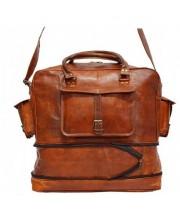11. Rozkładana torba podróżna 'Vintage Kazar MAX', na ramię skóra naturalna L