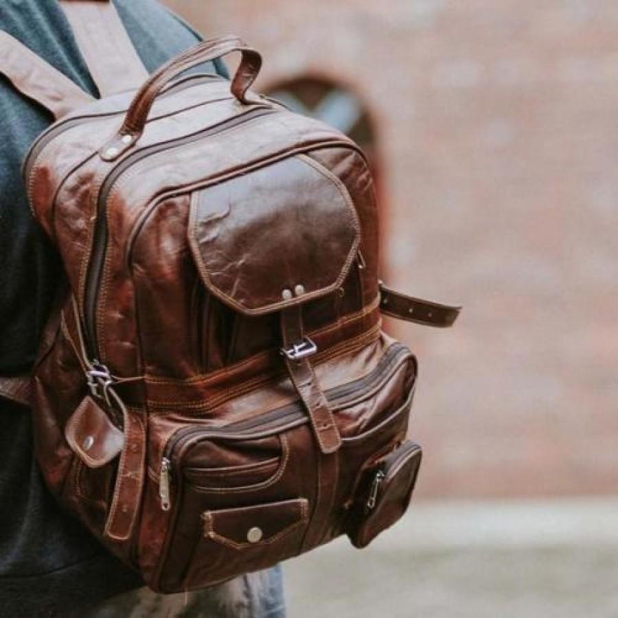 """13. Torba podróżna  na ramię - plecak 'Vintage Escapade', Skóra naturalna 17"""""""