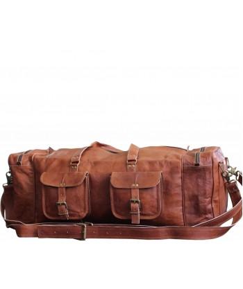 "9. Duża torba podróżna 'Vintage Traveler Sack XL"" skóra naturalna vintage, rozmiar 28"""