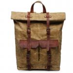 K2 Plecak bawełniano-skórzany WAX CANVAS VINTAGE. Unisex - khaki