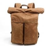 P10 Damski / męski plecak bawełniano-skórzany WAX CANVAS II. Unisex 4 kolory