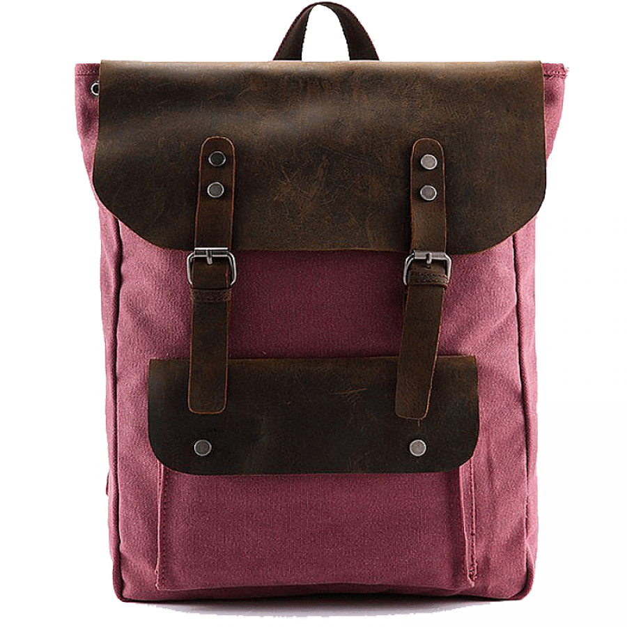 "P13 Plecak damski męski z grubego płotna i naturalnej skóry. 4 kolory. Laptop 16"""
