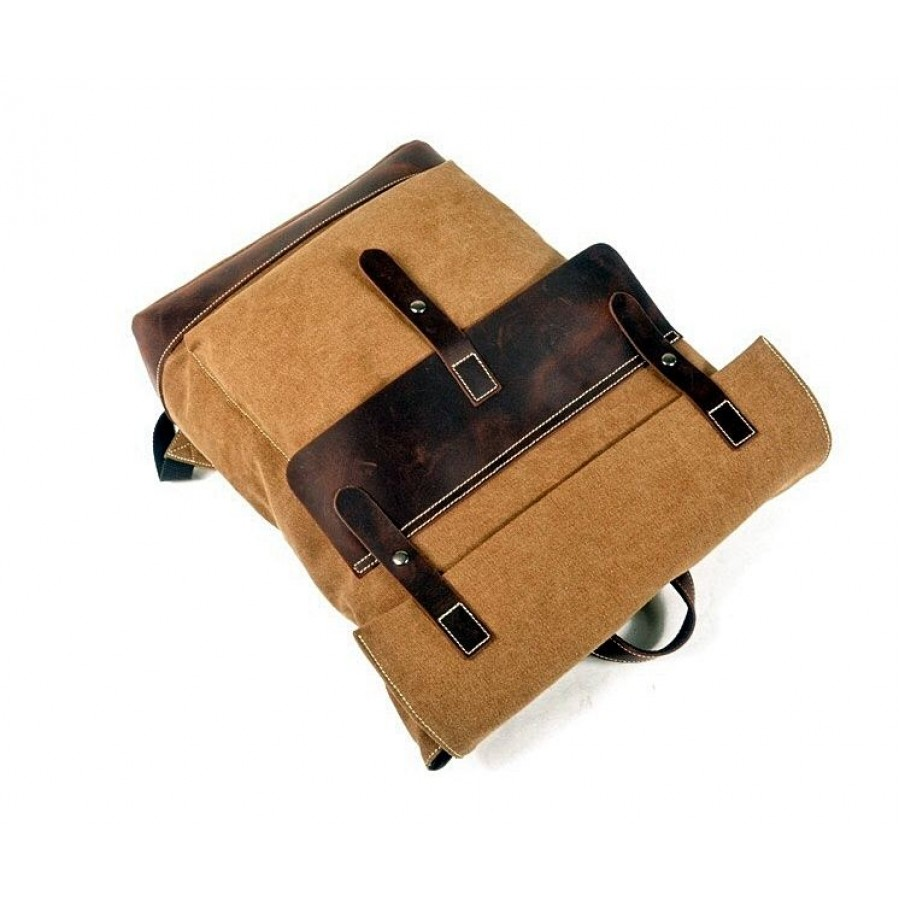 """P6 Duży plecak hipsterski zgrubej bawełny i skóry. Męski / damski 5 kolorów. Laptop 17"""""""