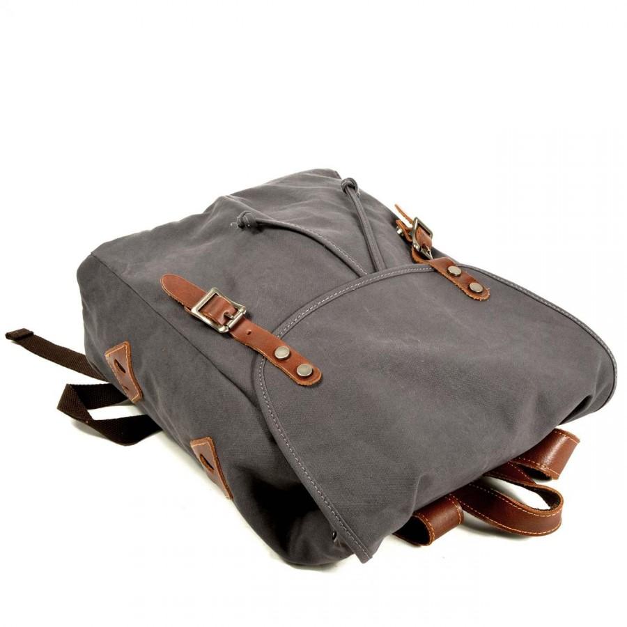 """P7 Damski plecak miejski zgrubej bawełny i skóry. 5 kolorów. Laptop 16"""""""