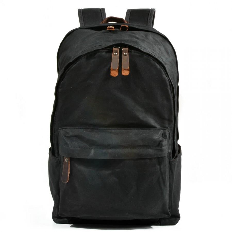 """P9 Unisex plecak trackingowy vintage z grubej woskowanej bawełny. 3 kolory. Laptop 15"""""""