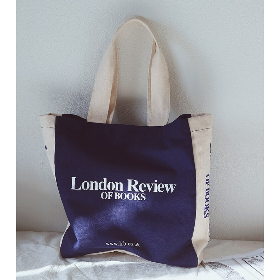 01 LONDON REVIEW™ Płócienna torba shopperka. 2 kolory