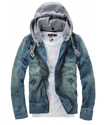 Kurtka jeansowa Vintage 705, doczepiany kaptur - dostawa 24h