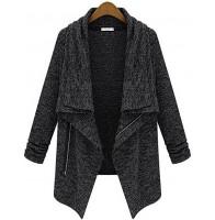 Płaszcz trench z długim rękawem, bawełna