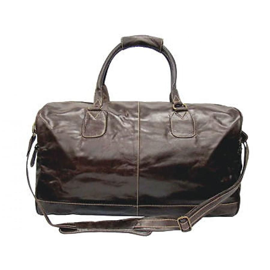 e347fb4ea9067 Torba podróżna Portland Vintage, skóra naturalna, brązowa, XL