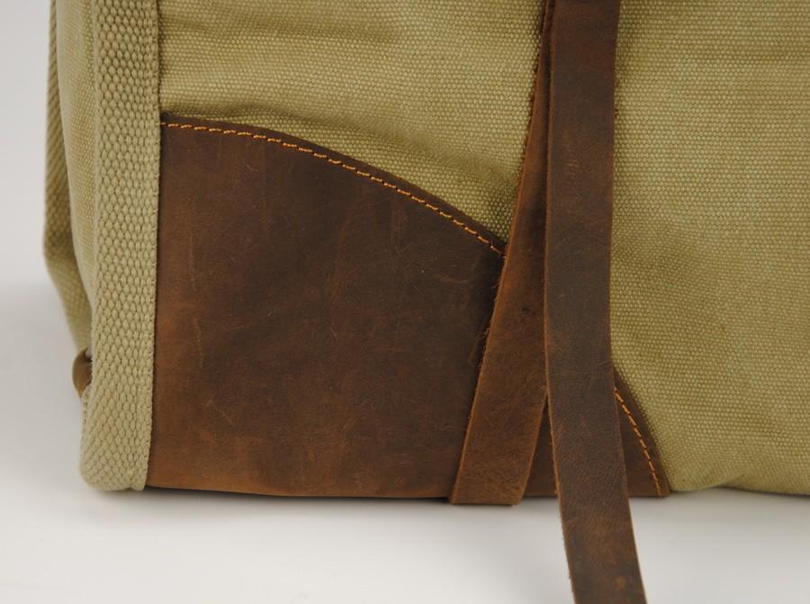 Torba Vamp 3 Vintage, płótno-skóra naturalna. XL