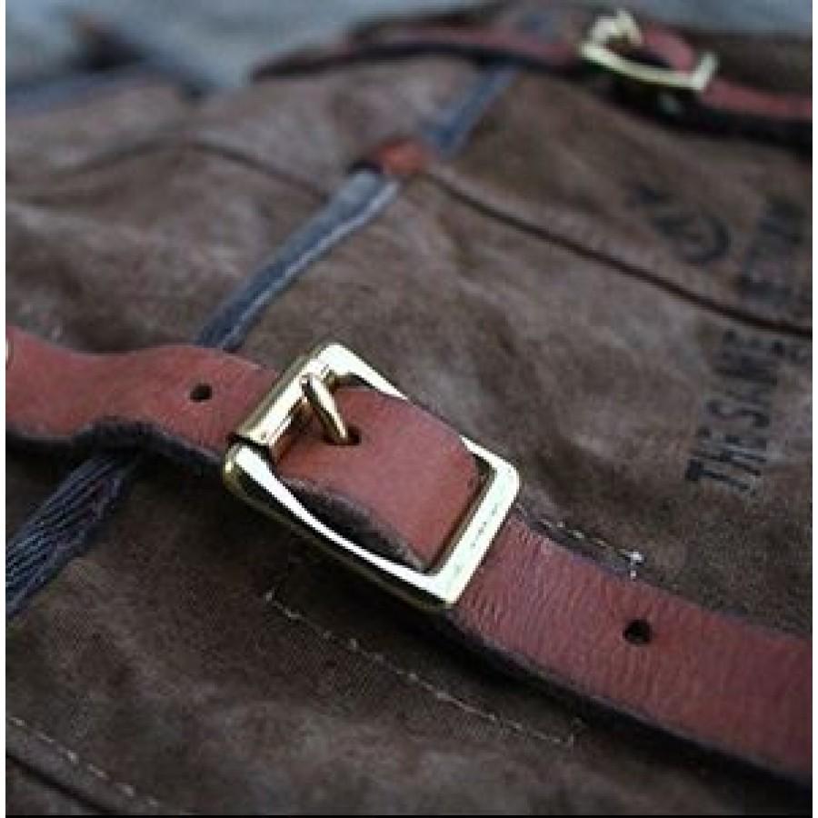 01. MEKS TRAVELER VINTAGE™ Uniwersalna torba na ramię - plecak bawełna - skóra naturalna