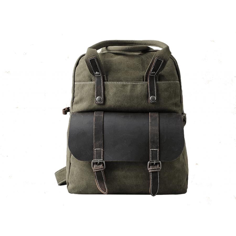 Plecak - torba VIVIAN bawełna, skóra naturalna