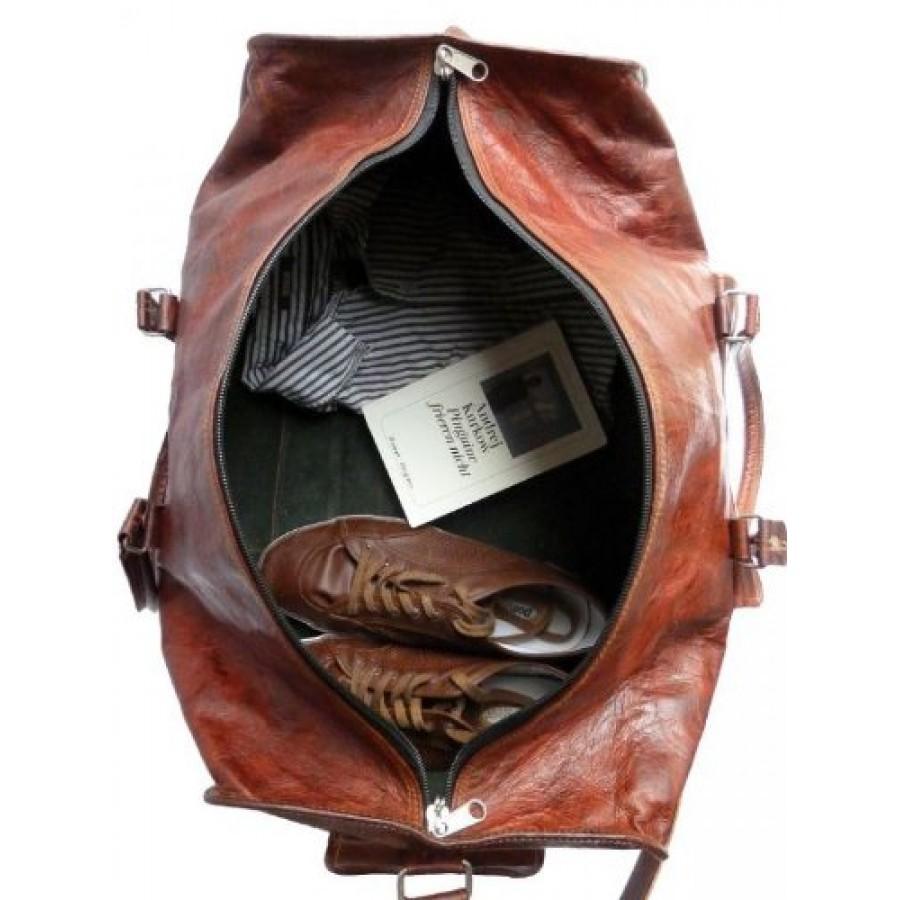 Torba podróżna 'Vintage 3' skóra koźlęca, unisex, XL