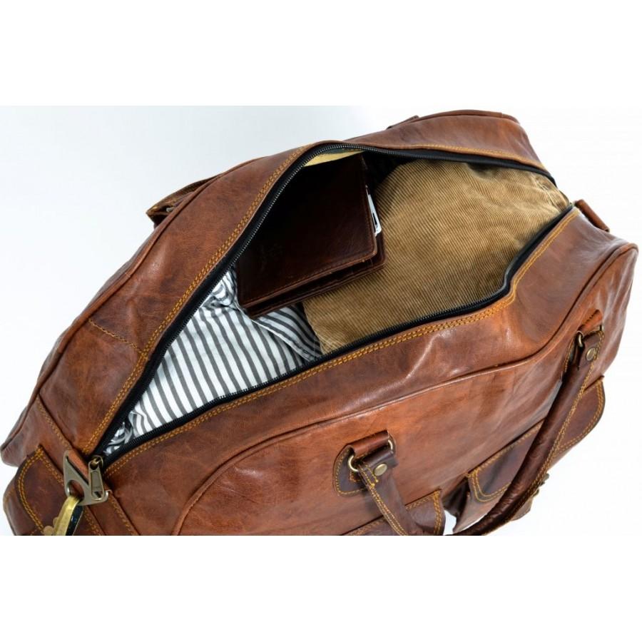 Torba na ramię podróżna 'Arch'.  skóra naturalna, XL