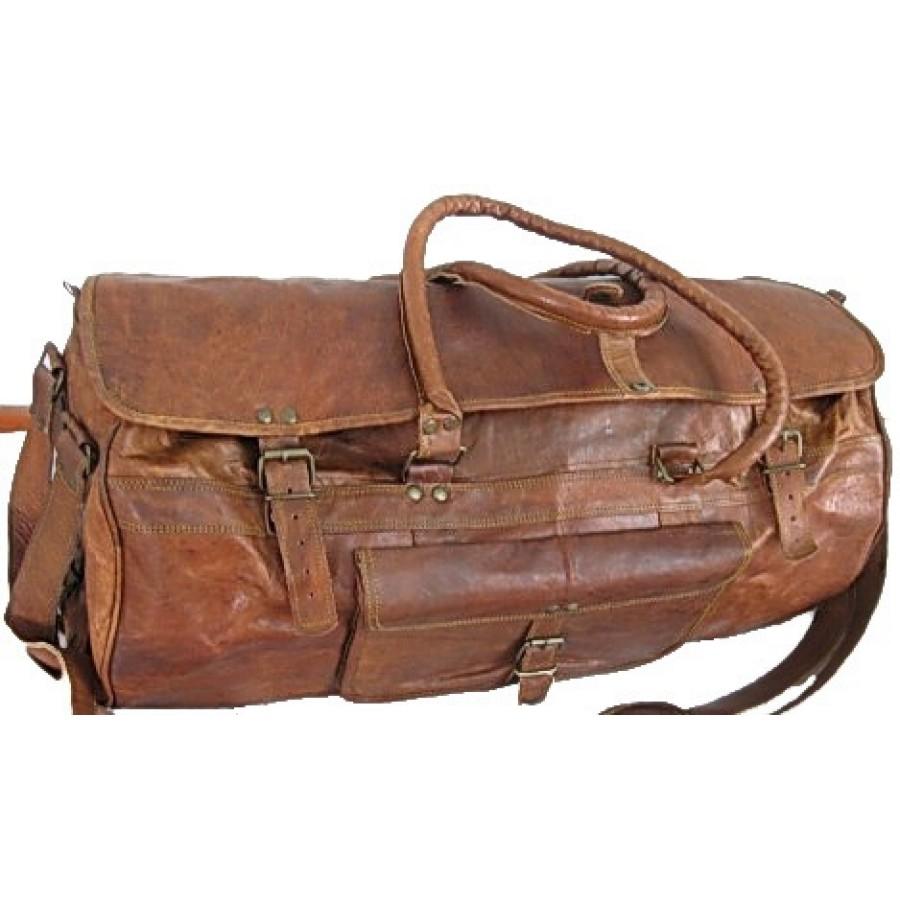 """Torba podróżna 'Vintage Traveler MAX', skóra naturalna, vintage M / 20"""""""
