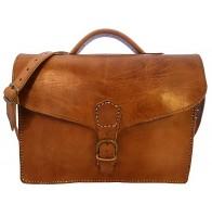 Skórzana torba na ramię U12, skóra naturalna