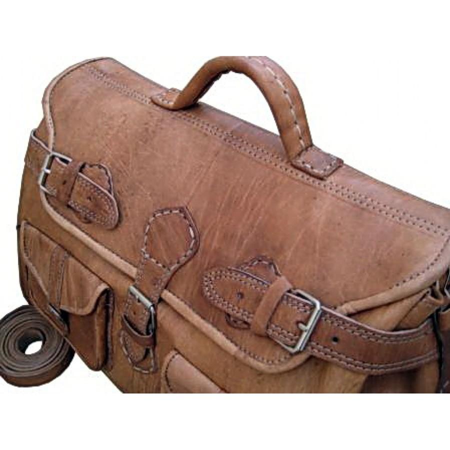 Torba podróżna 'Vintage Buckley', skóra, brąz, XL