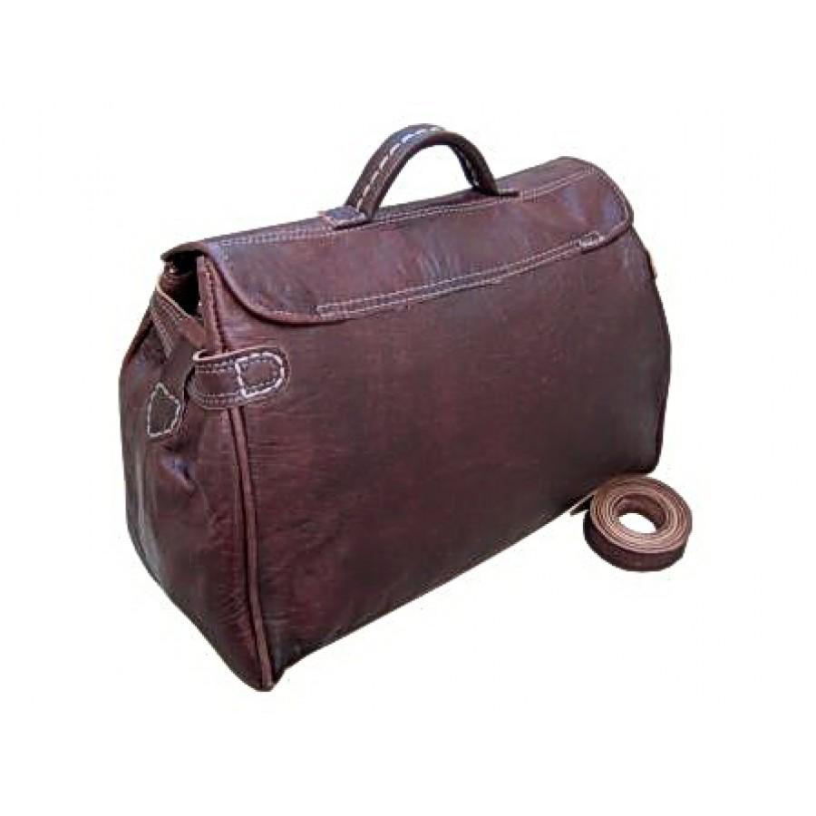 Torba podróżna 'Vintage Buckley', skóra, ciemny brąz, XL