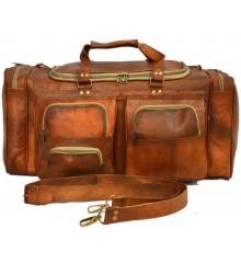 14. Torba podróżna 'Vintage Fiori', skóra naturalna XL
