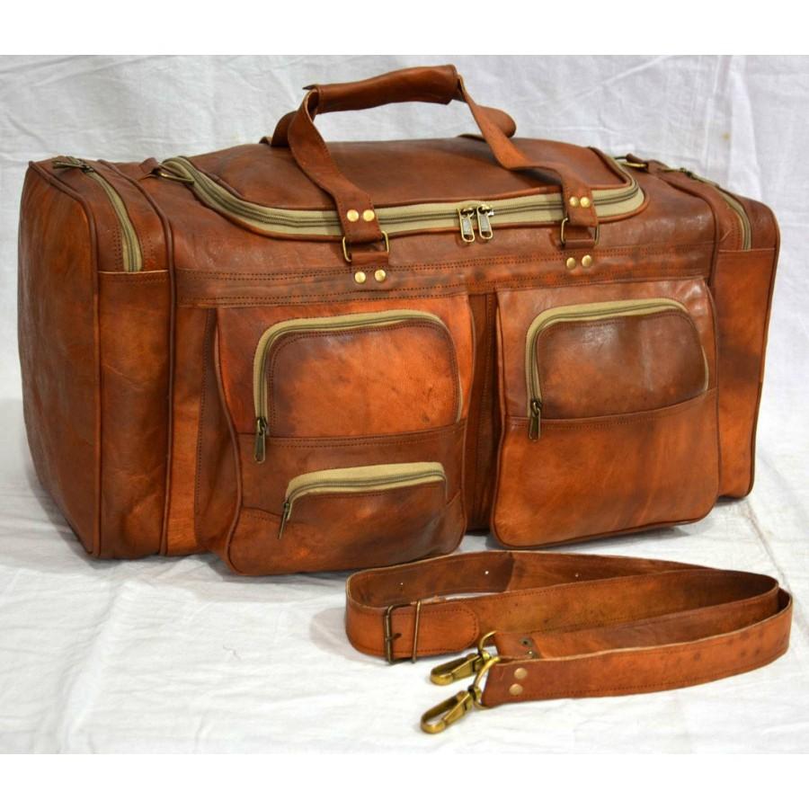 Torba podróżna 'Vintage Fiori', skóra koźlęca XL