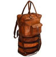 """Torba podróżna 'Vintage Marco MAX' składana, na ramię  - plecak. Skóra naturalna 14"""""""