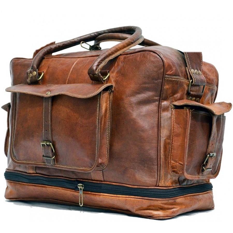 9a7799f2e8831 Torba podróżna 'Vintage Kazar MAX', na ramię skóra kożlęca L