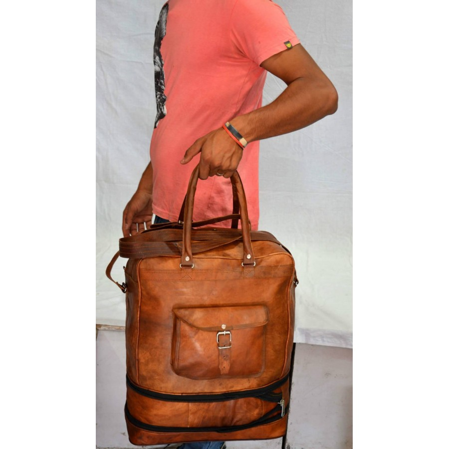 Torba podróżna 'Vintage Marco MAX 2', na ramię - plecak. Skóra