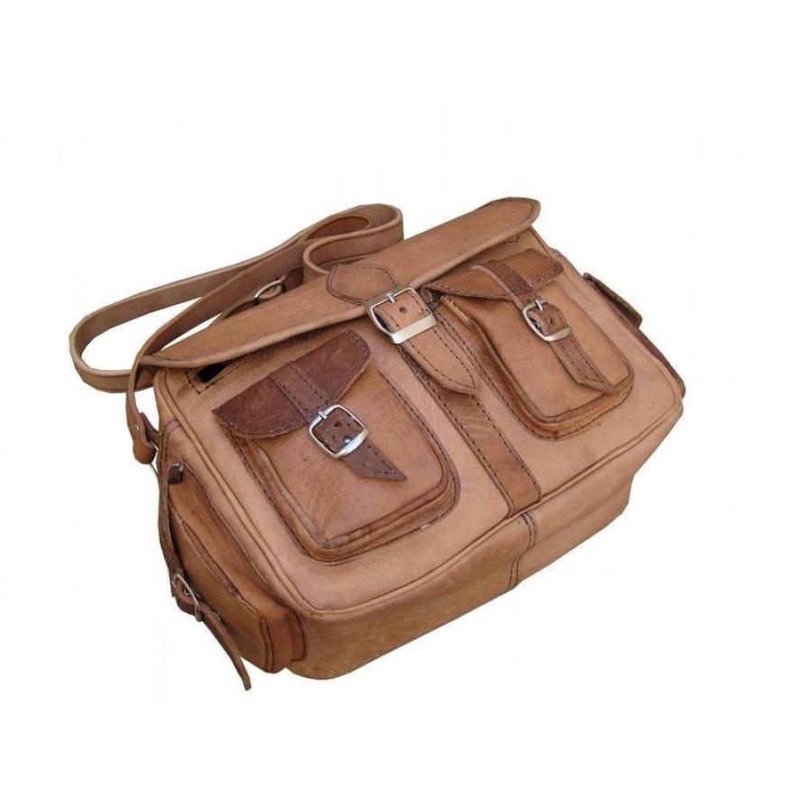 Skórzana torebka AGADIR, ręcznie robiona