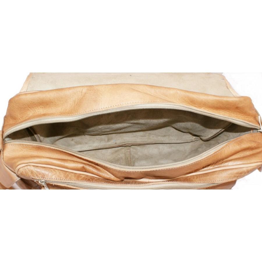 Skórzana torba na ramię CASA, ręcznie robiona