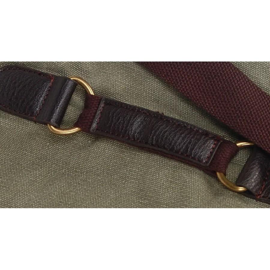 01v. UGARIT ECO Torba na ramię vintage, płótno-skóra. 4 kolory