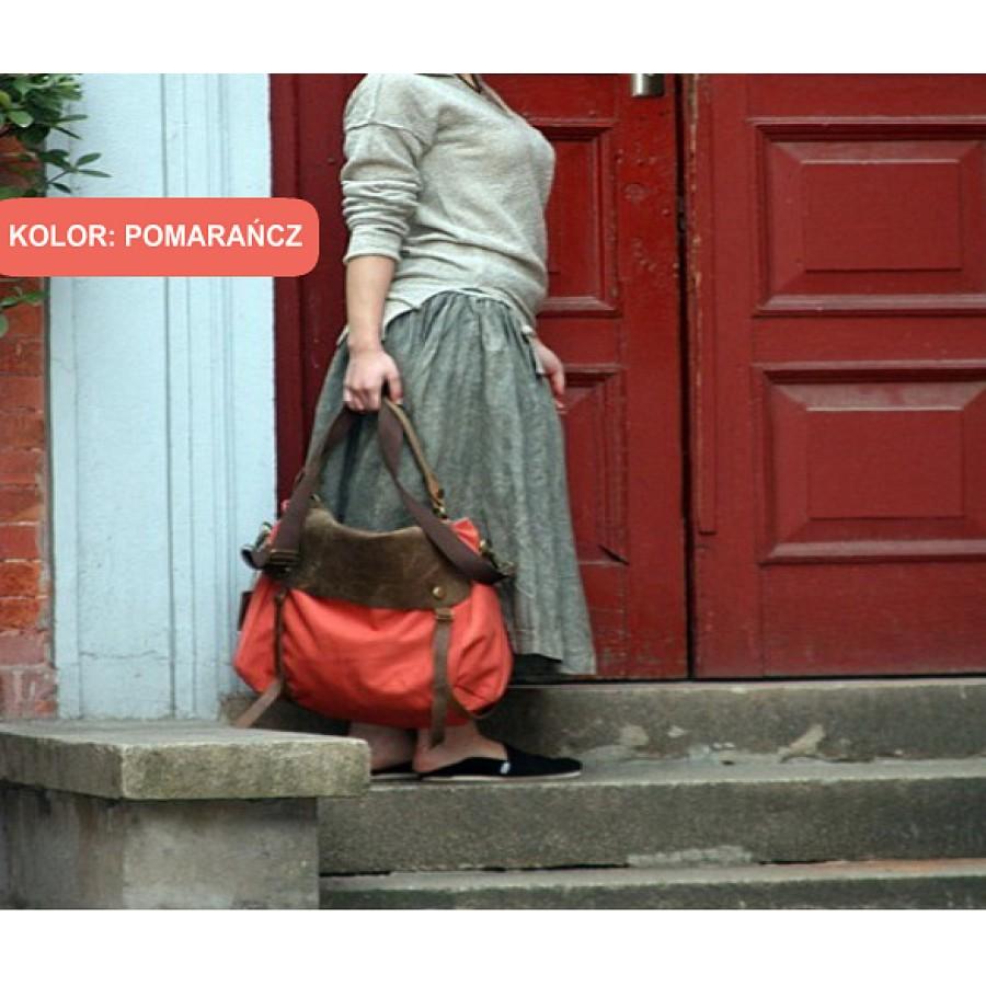 'Mail' torba na ramię, płótno-skóra, unisex