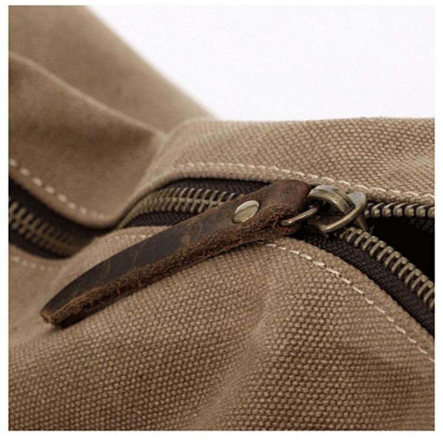 01. ARTVamp™ Torba na ramię płótno-skóra, unisex