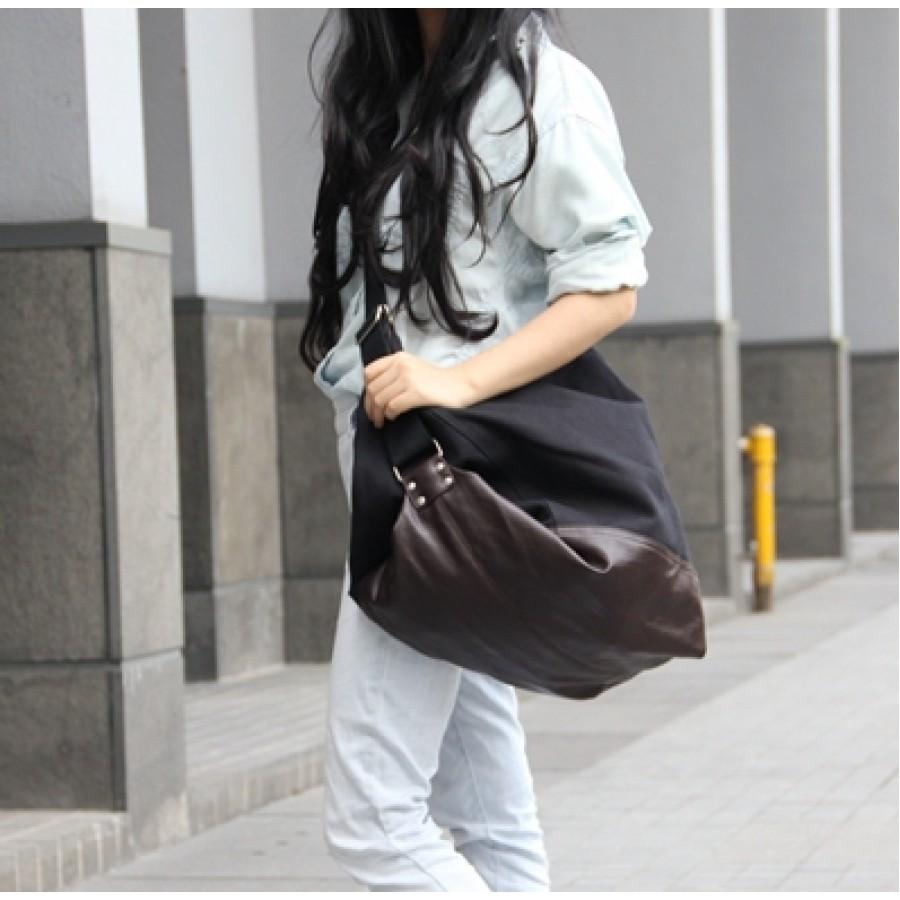 Torba na ramię SAFFI™, grube płótno bawełniane, 3 kolory